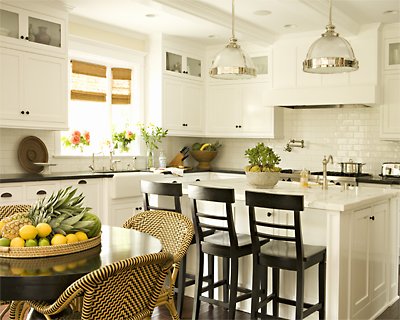Yellow Kitchens with White Cabinets