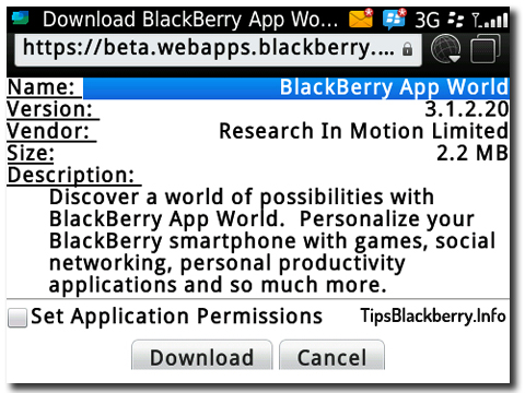 Download Blackberry App World v3.1.2.20 Versi Terbaru di Beta Zone