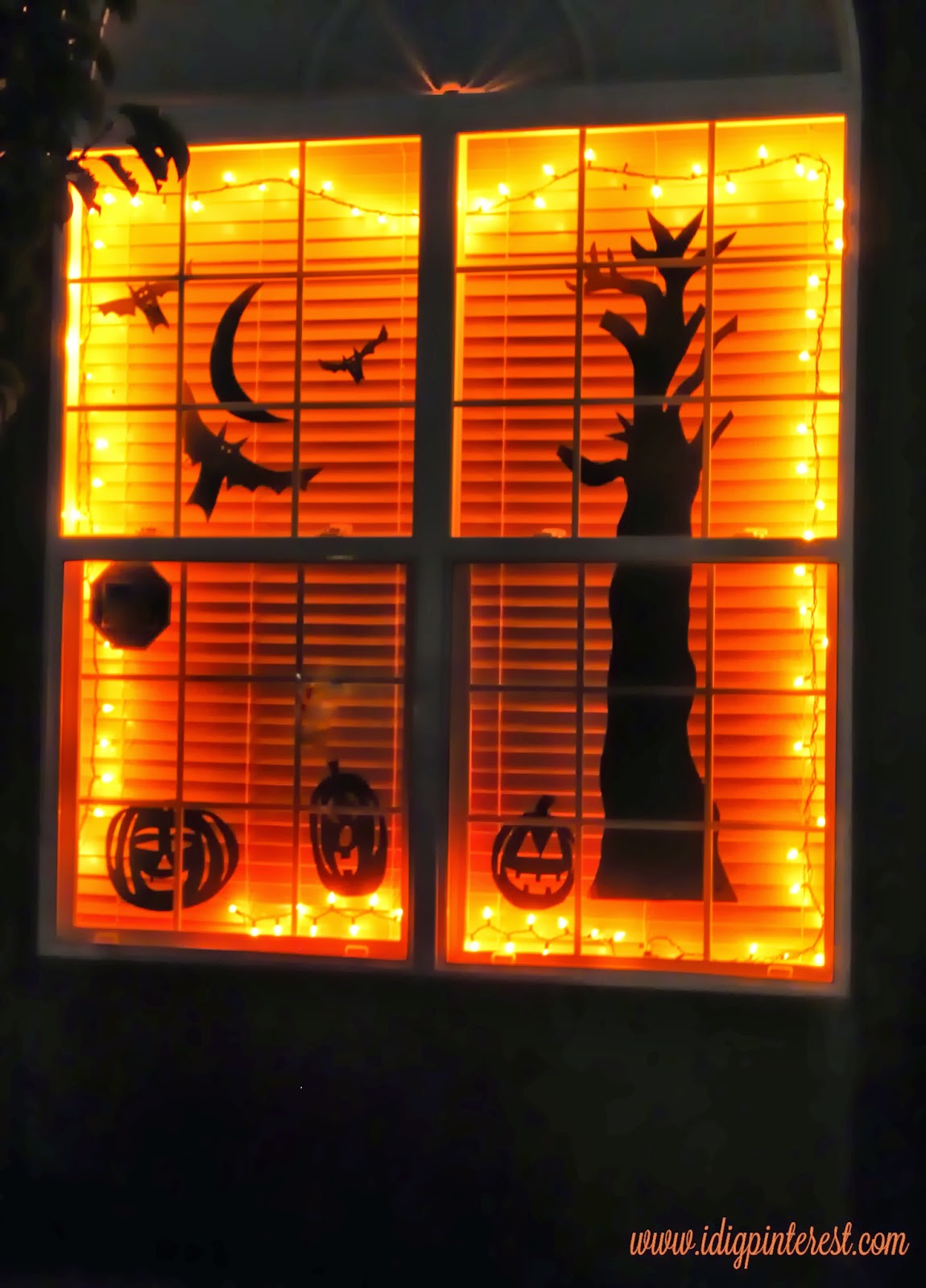 get the pleasure of being constantly bugged on halloween night maybe this spooky halloween window scene will help draw in the cute ghosts and goblins - Halloween Window