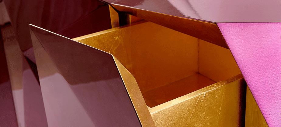 эксклюзив тумба гостиная золото дизайн гламур ящик фиолетовый
