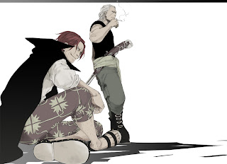 One Piece Red Haired Pirates Red Haired Shanks Benn Beckmann Anime Smonking HD Wallpaper Desktop Background