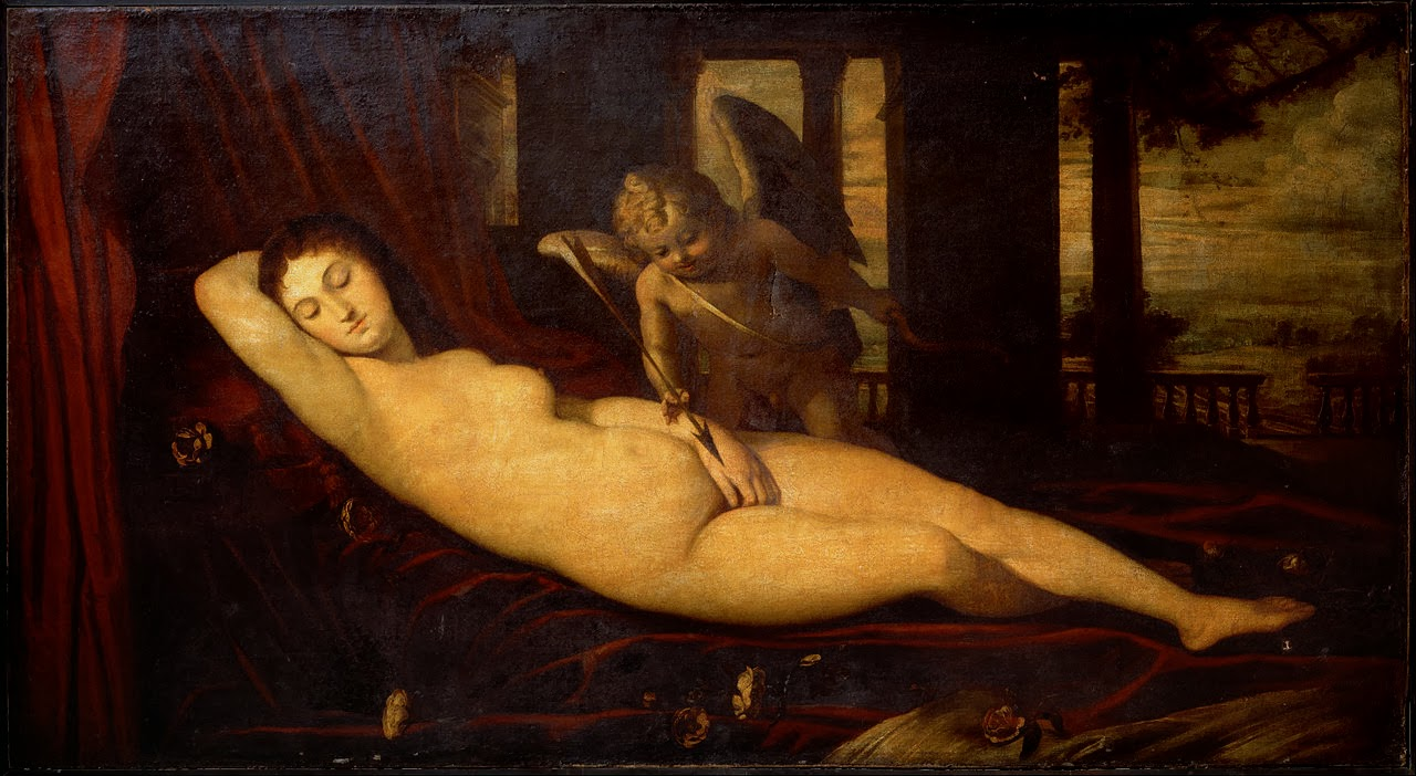 Sleeping Venus (after Titian), s. XVI