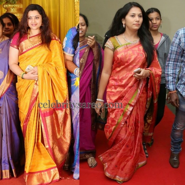 Meena Other Actress in Traditional Sarees