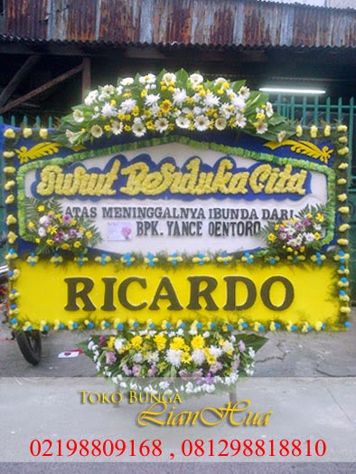 karangan bunga ucapan duka cita, toko bunga, bunga untuk orang meninggal