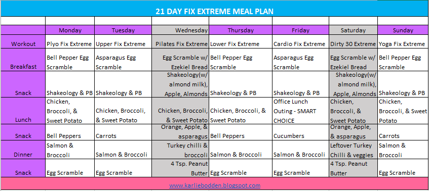 21 day fix extreme countdown to competition meal plan pdf