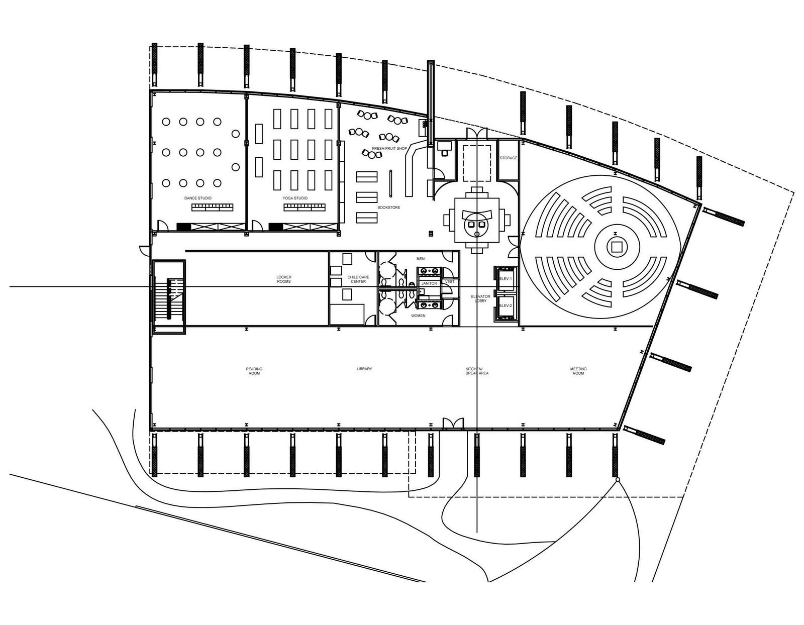 greensphere wellness center  preliminary floor plan
