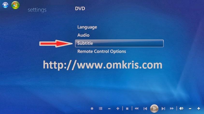 Aktifkan Subtitle Windows media center OMKRISCOM