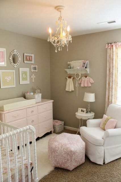 Cute pinterest nursery for Cuartos de ninas estilo vintage
