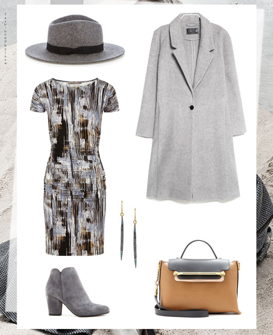 Outfit inspiration | Grey colour trend | Grey coat