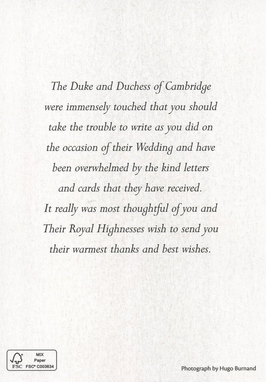 Call to Arms The Royal Wedding – Wedding Photo Thank You Cards Canada