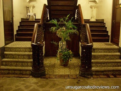 staircase at Barbara's Restaurant Intramuros