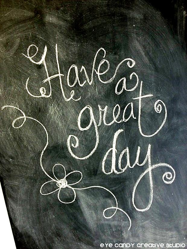 chalkboard messages on kitchen door, pantry door, hand lettered