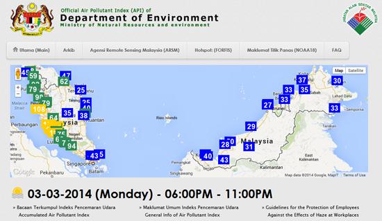 APIMS - Cara semakan online Indeks Pencemaran Udara di Malaysia