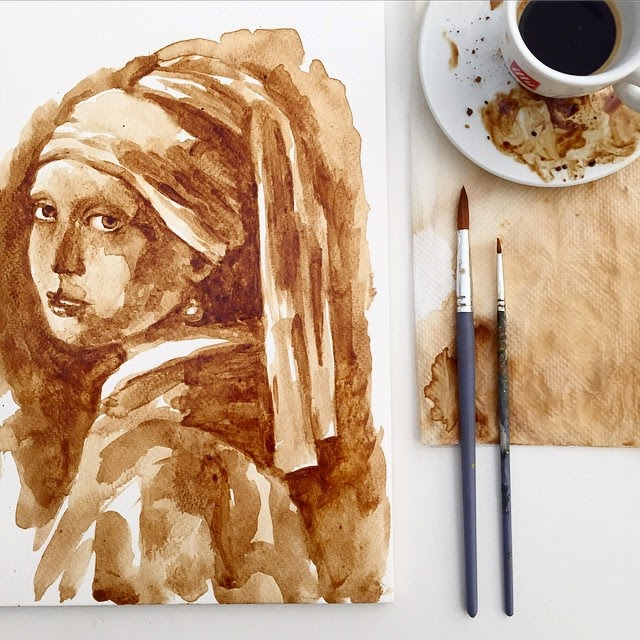 19-Girl-With-a-Pearl-Earring-Johannes-Vermeer-Maria-A-Aristidou-Pop-Culture-Painted-with-Coffee-www-designstack-co