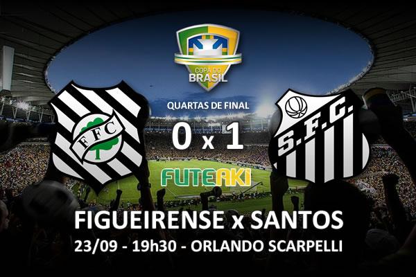 Veja o resumo da partida com o gol e os melhores momentos de Figueirense 0x1 Santos pelas quartas de final da Copa do Brasil 2015.