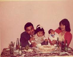 Primer cumpleaños con hijos (Nva. Imperial, dic. 1963)