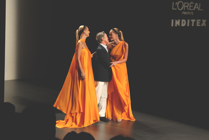 Roberto Torreta, PV13, MBFW Madrid, Maxi dress, orange