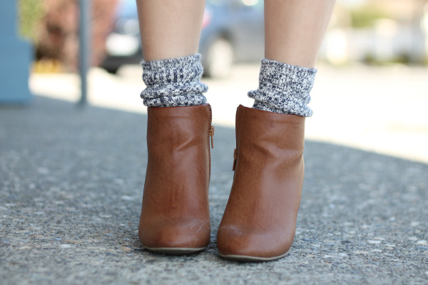 chunky socks and ankle boots