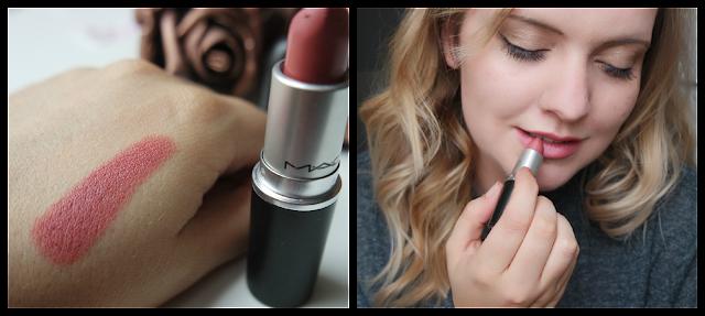 MAC Brave Lipstick Swatch on paler skin