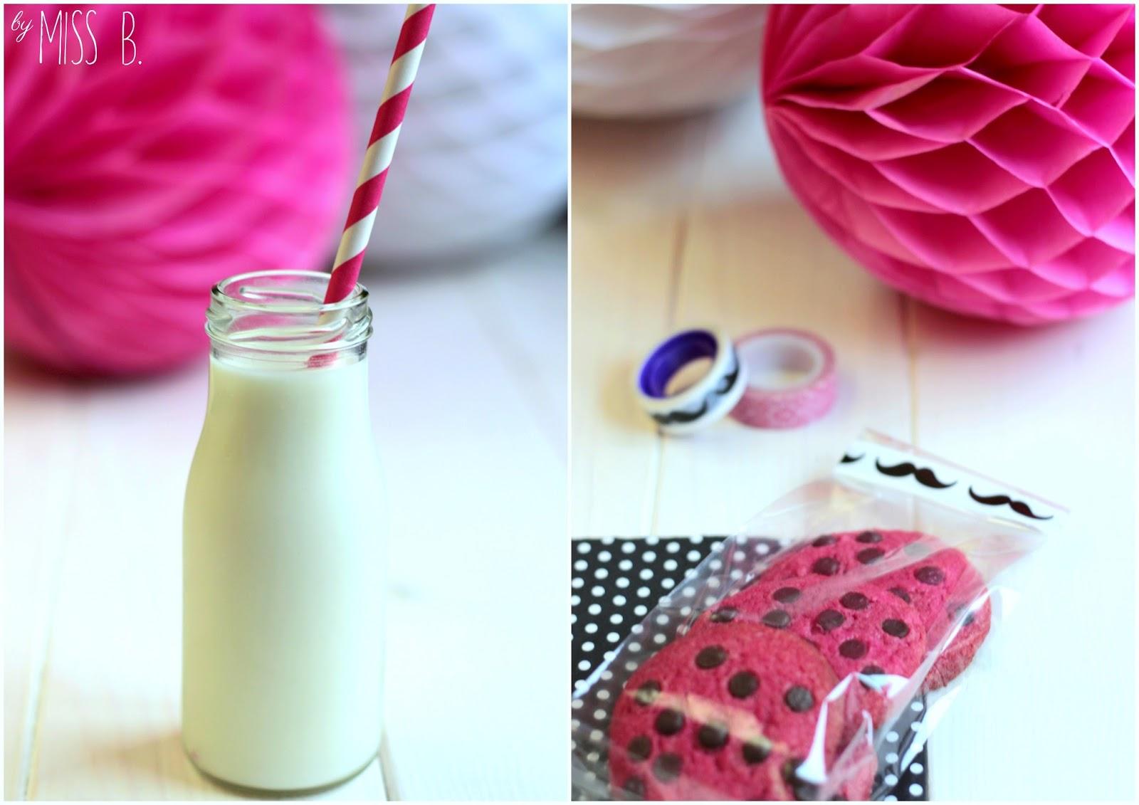 Miss Blueberrymuffin\'s kitchen: Pinke Cookies mit Erdbeermarmelade