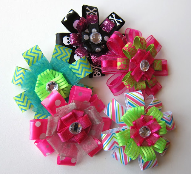 bowtique glam, hair bows, etsy, homemade hair bow, for sale