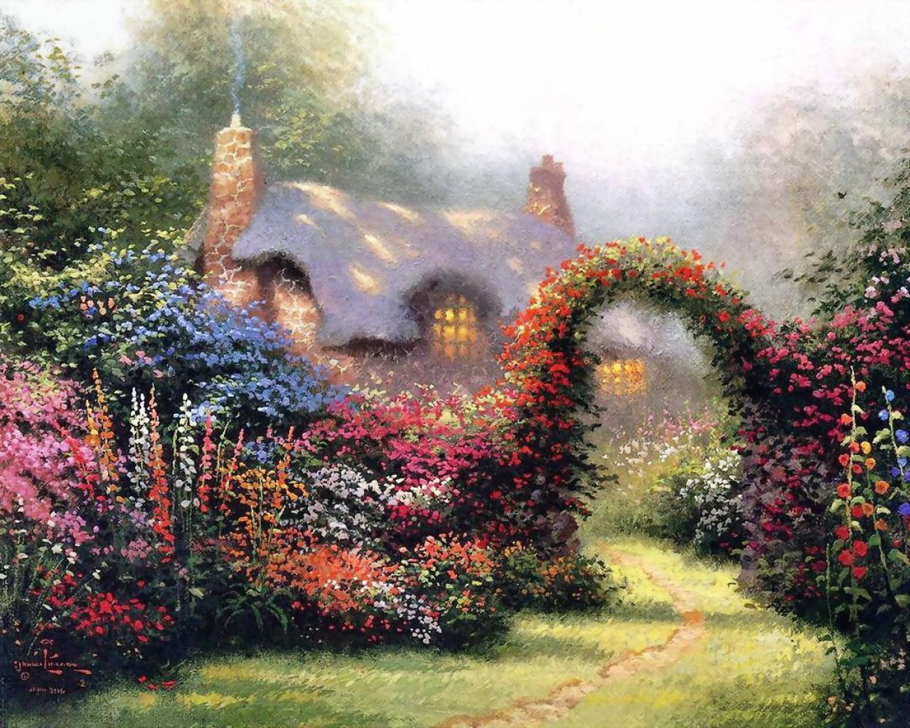 Thomas Kinkade, Painter Of Light