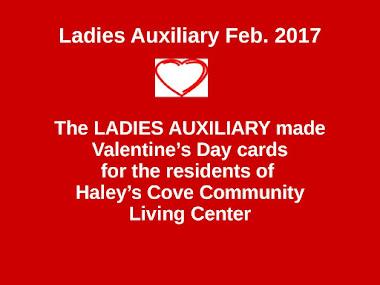 Ladies Auxiliary Meeting 2/2/17
