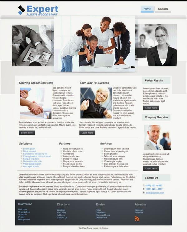 Expert  - Free Wordpress Theme
