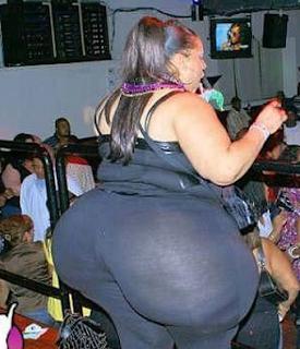 Smešne slike: gojazna zadnjica od žene