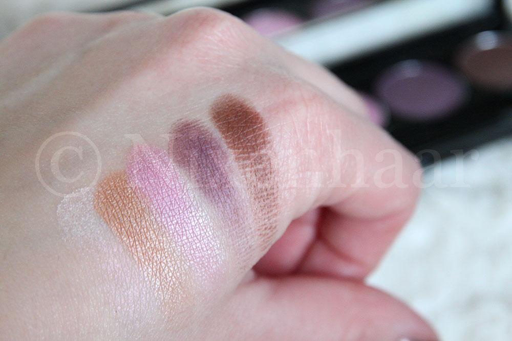 Zuii Organic Eyeshadow Palette Romance - Swatches.