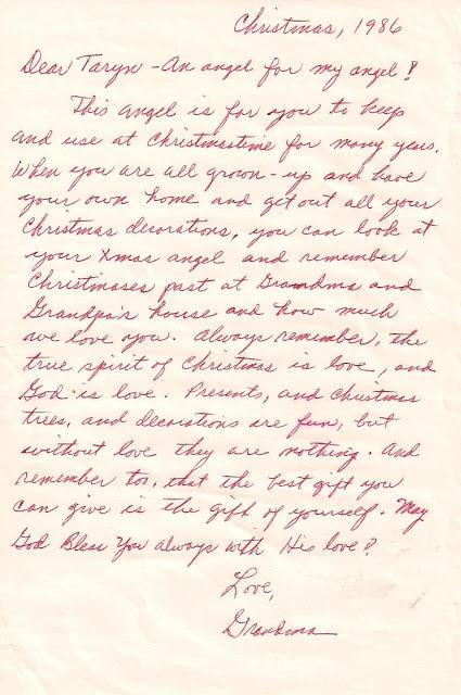 Grandma's Christmas letter