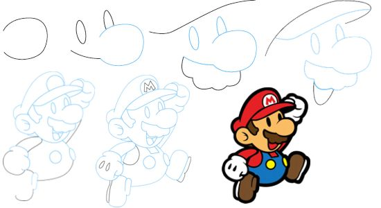 How To Draw Mario Characters Step By Step For Kids How to draw Mario