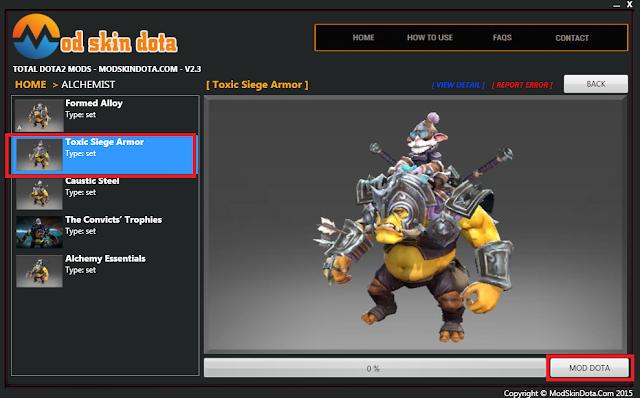 [Mod Dota] Toxic Siege Armor