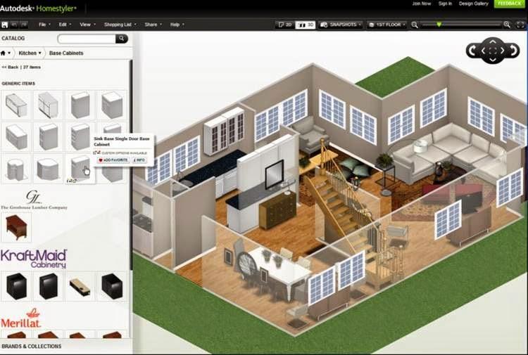 Homestyler software gratuito que permite crear y ambientar Programa de diseno de interiores online