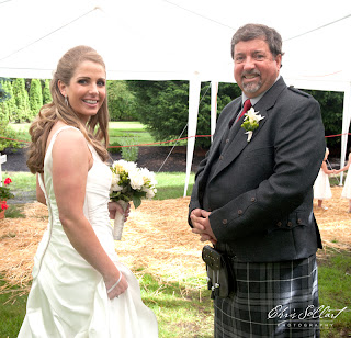 Megan and her father, Warren, are ready to walk down the wedding aisle