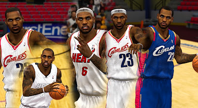 NBA 2K13 LeBron James All-time Cyberface Pack