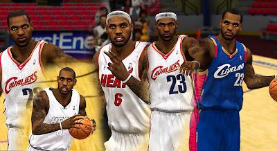NBA 2K13 LeBron James All-time Cyberface Pack