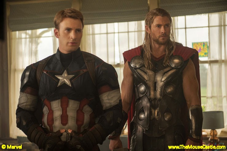 Captain American and Thor in Avengers: Age of Ultron