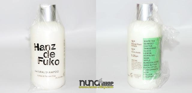 HANZ DE FUKO Natural Hair Shampoo 8 Fl oz Sulfate & Paraben Free NEW