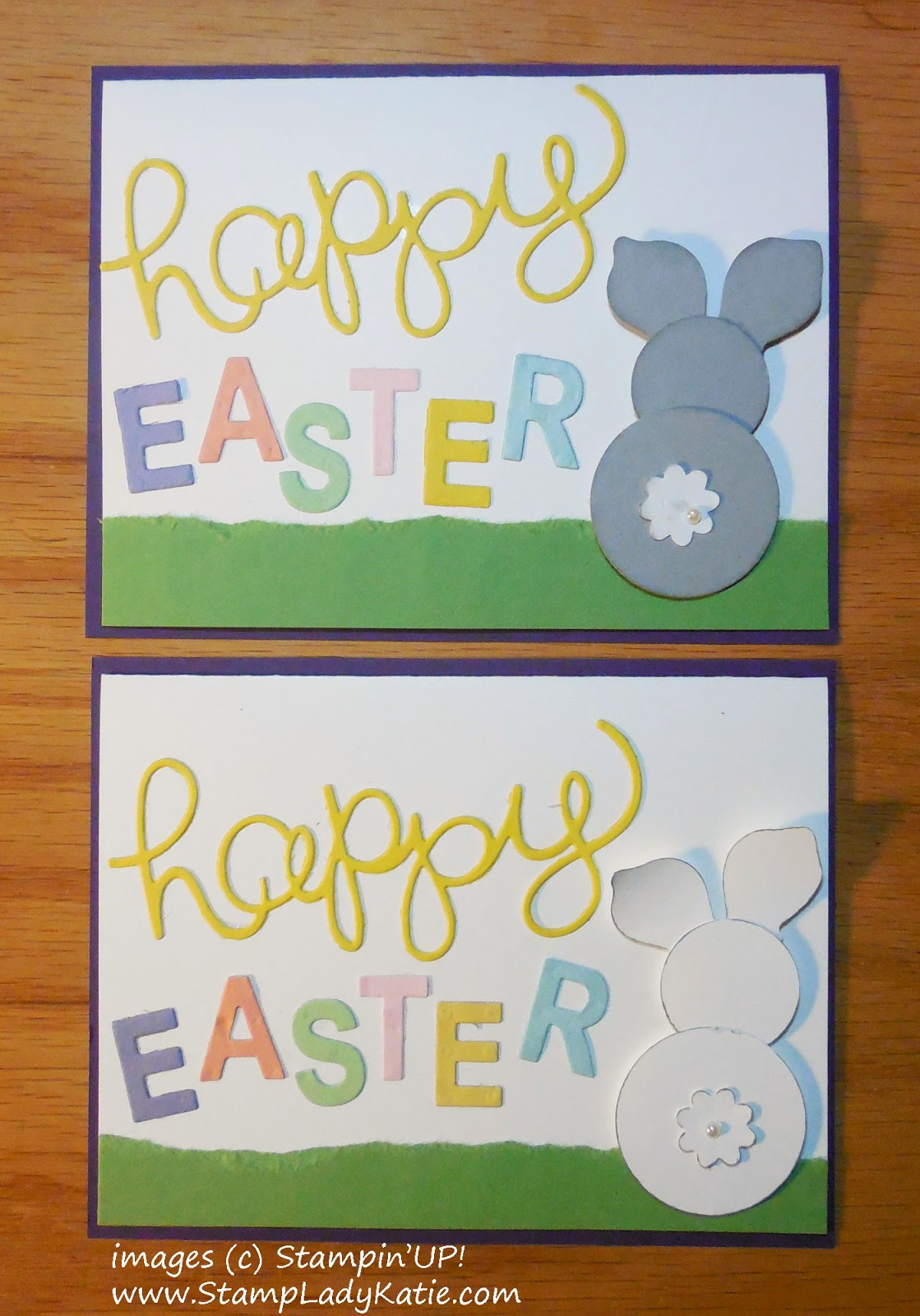 Easter Card with a Punch Art Bunny Rabbit