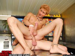 Using a dildo on him