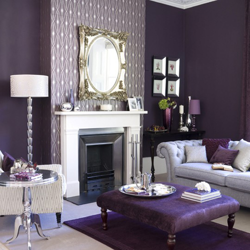 Magnificent Purple Black and Grey Living Room 500 x 500 · 173 kB · jpeg