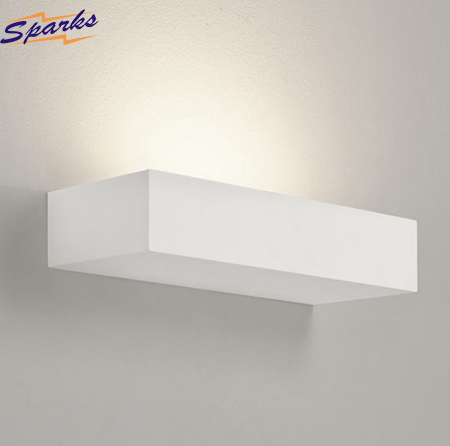 Parma 200 Plaster Wall Fitting, White Uplight