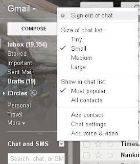 Chat Sign out Gmail