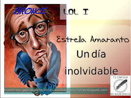 """Medalla de bronce del concurso de Relatos """"LOL I"""" de El Círculo de Escritores"""