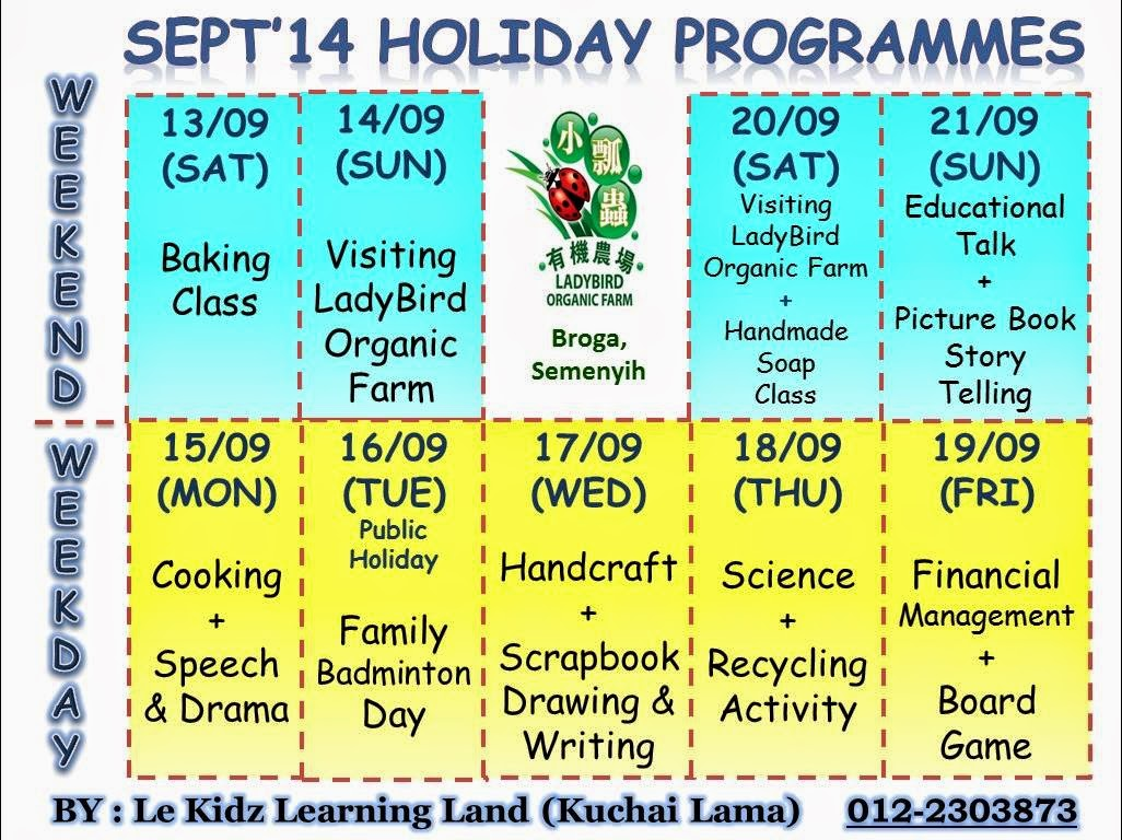 Sept 2014 School Holiday Program