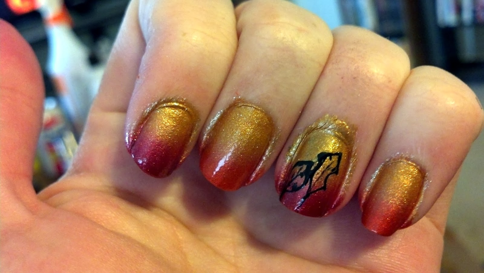 Fall Nail Art Fall gradient nail art