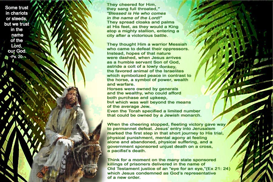 Palm Sunday 2015 Palm Sunday 2015 Greetings in