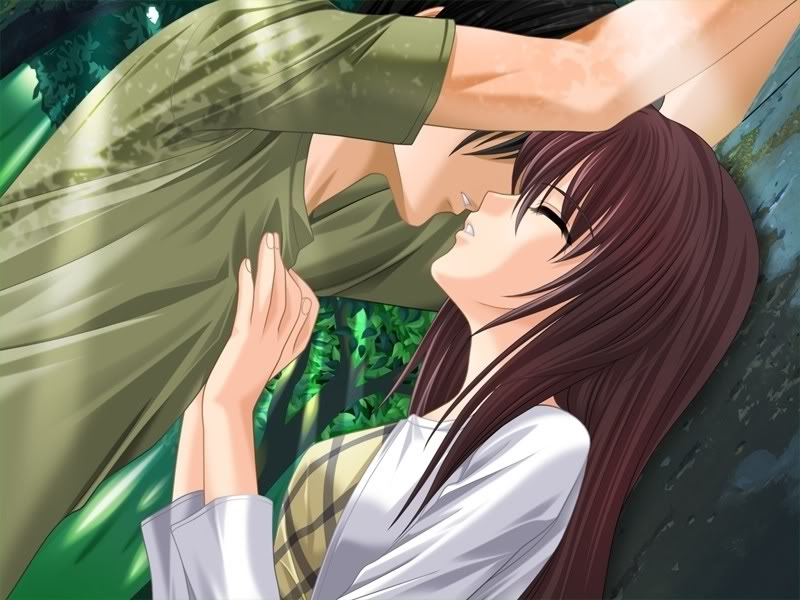kissing anime couples