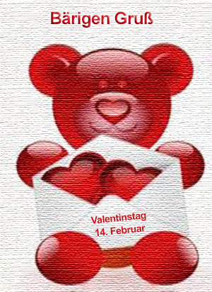 Zum Valentinstag Gruss